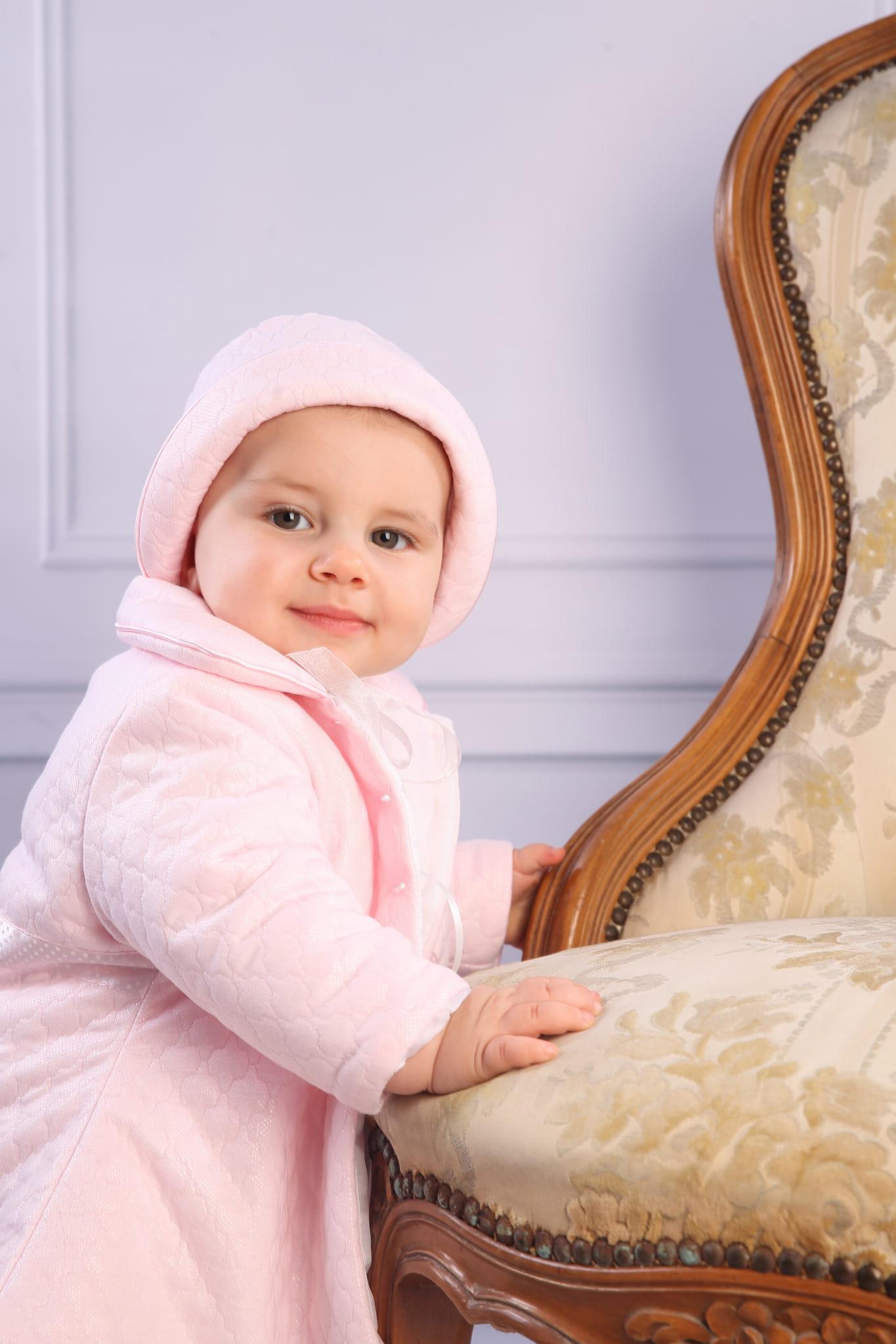 5fd22616b3 Różowy płaszczyk Antosia - Bolerka i płaszcze   Dziewczynka ...